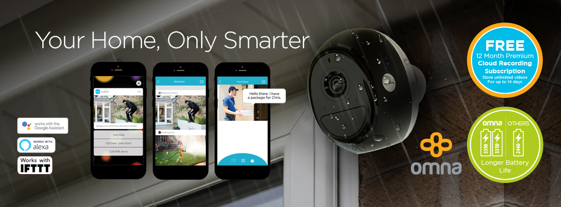 Omna Wire-Free Indoor/Outdoor Camera Kit by D-Link